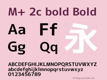M+ 2c bold