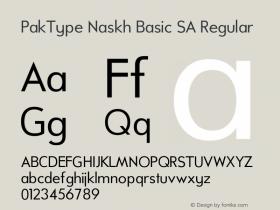 PakType Naskh Basic SA