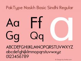 PakType Naskh Basic Sindhi