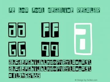 FE Box Font Negative