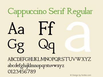 Cappuccino Serif