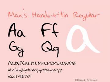 Max's Handwritin
