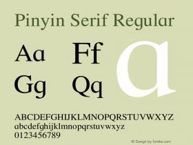 Pinyin Serif