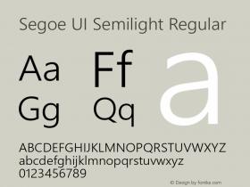 Segoe UI Semilight