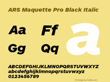 ARS Maquette Pro Black