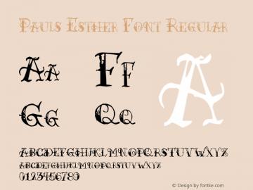 Pauls Esther Font