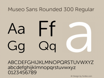 Museo Sans Rounded 300