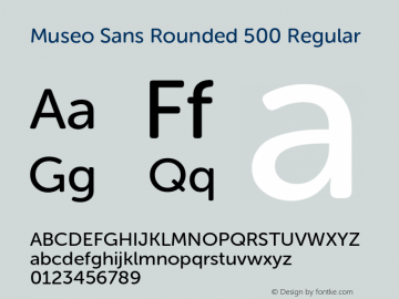 Museo Sans Rounded 500