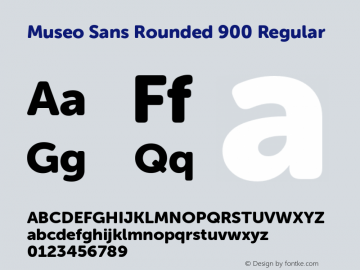 Museo Sans Rounded 900