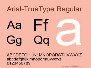 Arial-TrueType