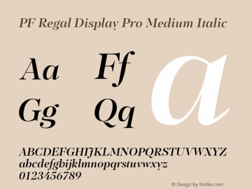 PF Regal Display Pro Medium