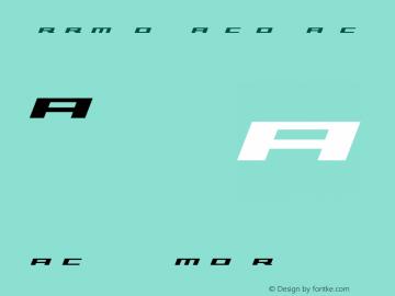 Trireme Bold Italic