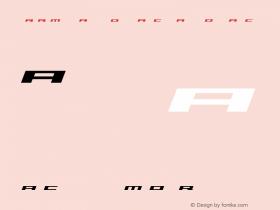 Trireme Expanded Bold Italic