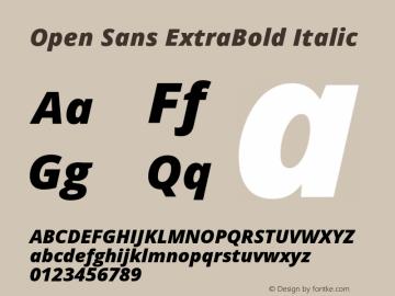 Open Sans Extrabold