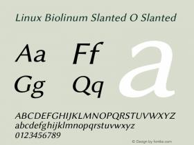Linux Biolinum Slanted O
