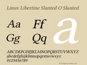 Linux Libertine Slanted O
