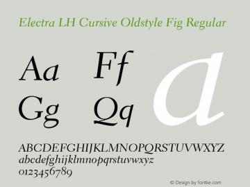 Electra LH Cursive Oldstyle Fig