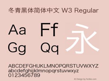 冬青黑体简体中文 W3