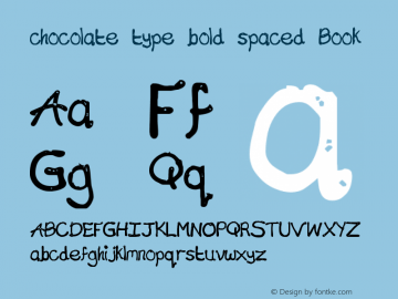chocolate type bold spaced