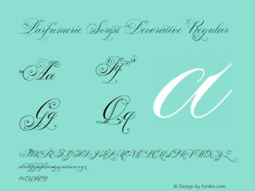Parfumerie Script Decorative