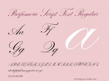 Parfumerie Script Text