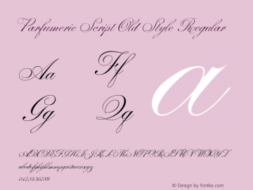 Parfumerie Script Old Style