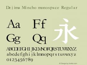 Dejima Mincho monospace