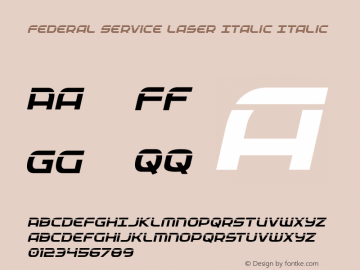 Federal Service Laser Italic