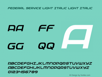Federal Service Light Italic