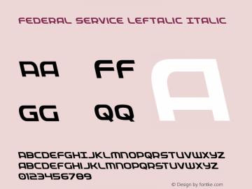 Federal Service Leftalic