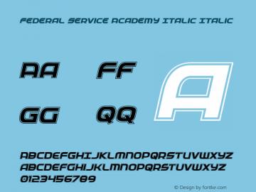 Federal Service Academy Italic
