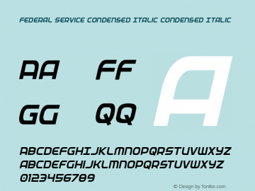 Federal Service Condensed Italic