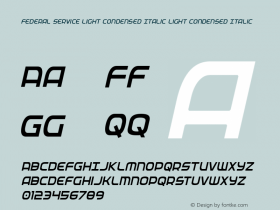 Federal Service Light Condensed Italic