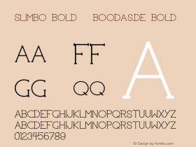 Slimbo Bold | boodas.de