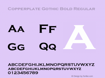 Copperplate Gothic Bold