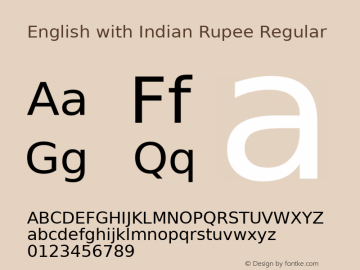 English with Indian Rupee
