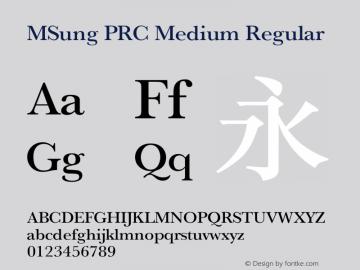 MSung PRC Medium