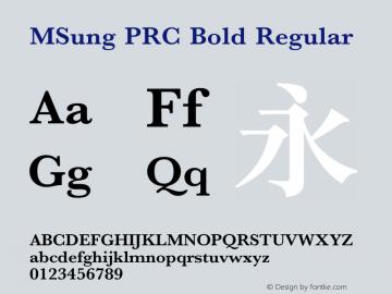 MSung PRC Bold