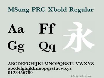 MSung PRC Xbold