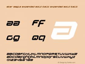 Star Eagle Expanded Bold Italic