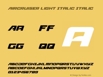 Aircruiser Light Italic