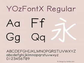 YOzFontX