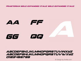 Praetorian Bold Expanded Italic