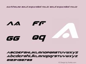 Darkholme Bold Expanded Italic