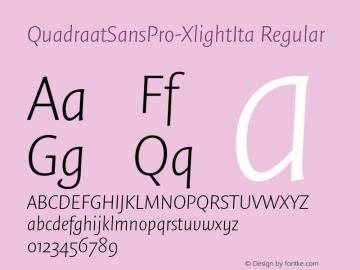 QuadraatSansPro-XlightIta