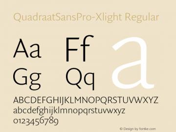 QuadraatSansPro-Xlight