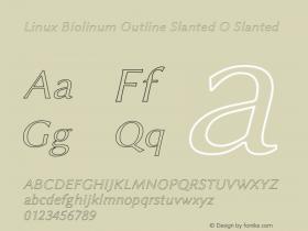Linux Biolinum Outline Slanted O