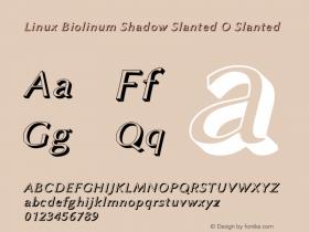Linux Biolinum Shadow Slanted O