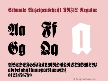 Schmale Anzeigenschrift UNZ1L
