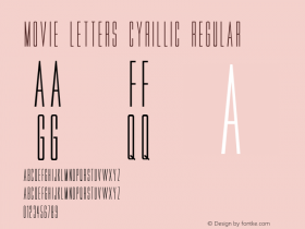 Movie Letters Cyrillic
